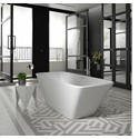 Anglesey - 1700 x 750mm Square Double Ended Freestanding Bath